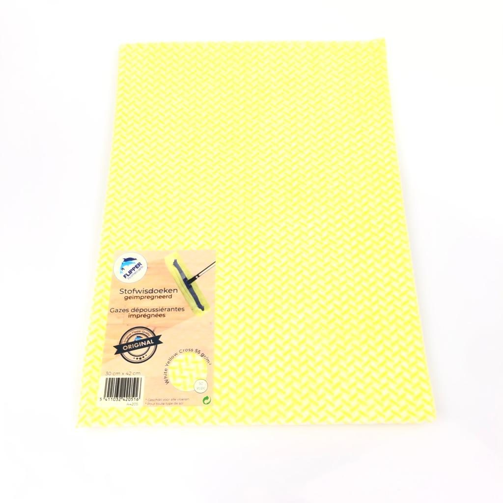 Flipper Stofwisdoekjes Dark yellow dot = LYC SUPERSOFT 55gr.30x42 cm.,flipper homcare