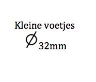 Kleine zuigvoetjes diameter 32mm